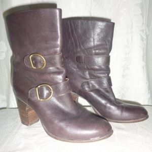 FIORENTINI BAKER Brown Double Buckle Boots 38 8
